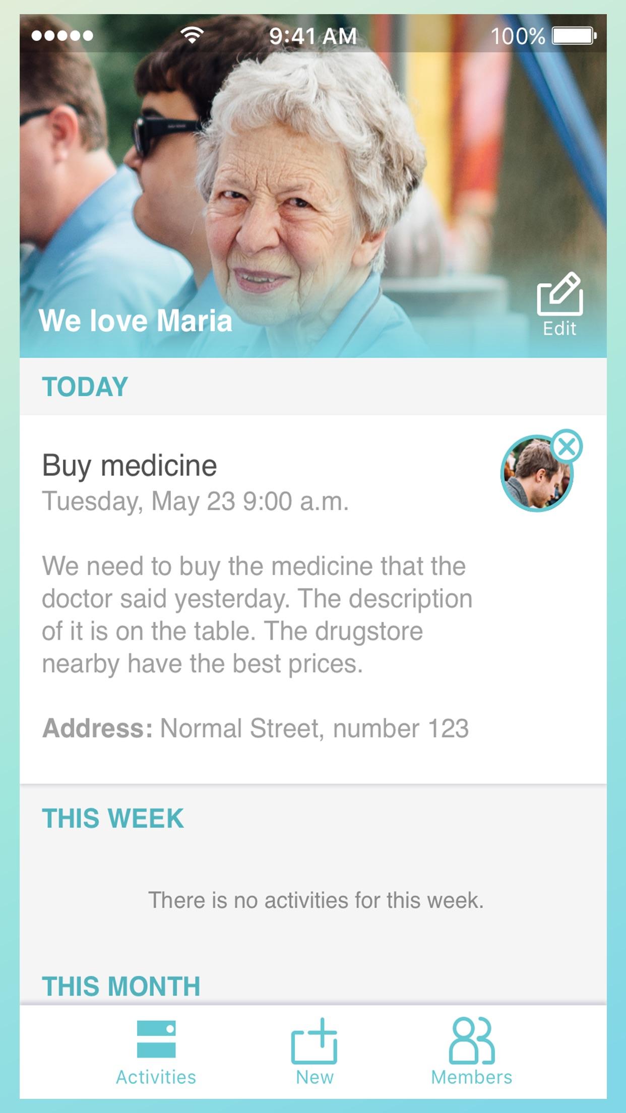 Screenshot do app Ohana - Família Unida