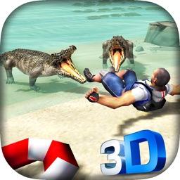 Wild Crocodile Attack 3D Game