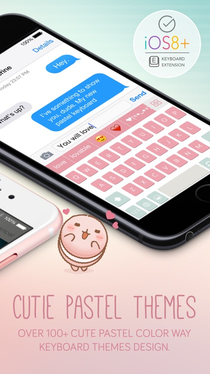 Pastel Keyboard Themes Extension - 100+ Cute Color