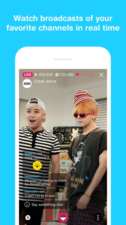 V LIVE - Broadcasting App screenshot-1