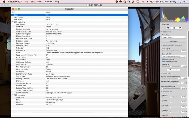AccuRaw Screenshot