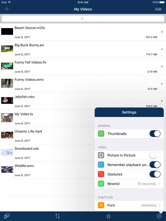 AVPlayer for iPad screenshot-4