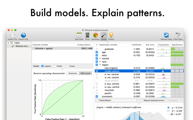 Screenshot #3 for Wizard - Statistics & Analysis