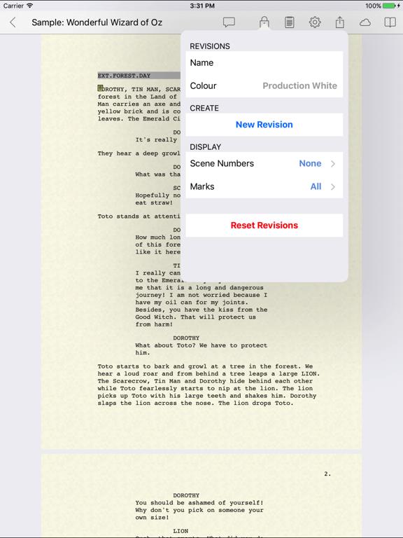 celtx script screenshot