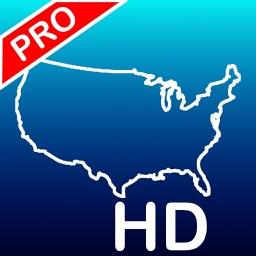 Aqua Map: US - GPS Boating Charts | HD