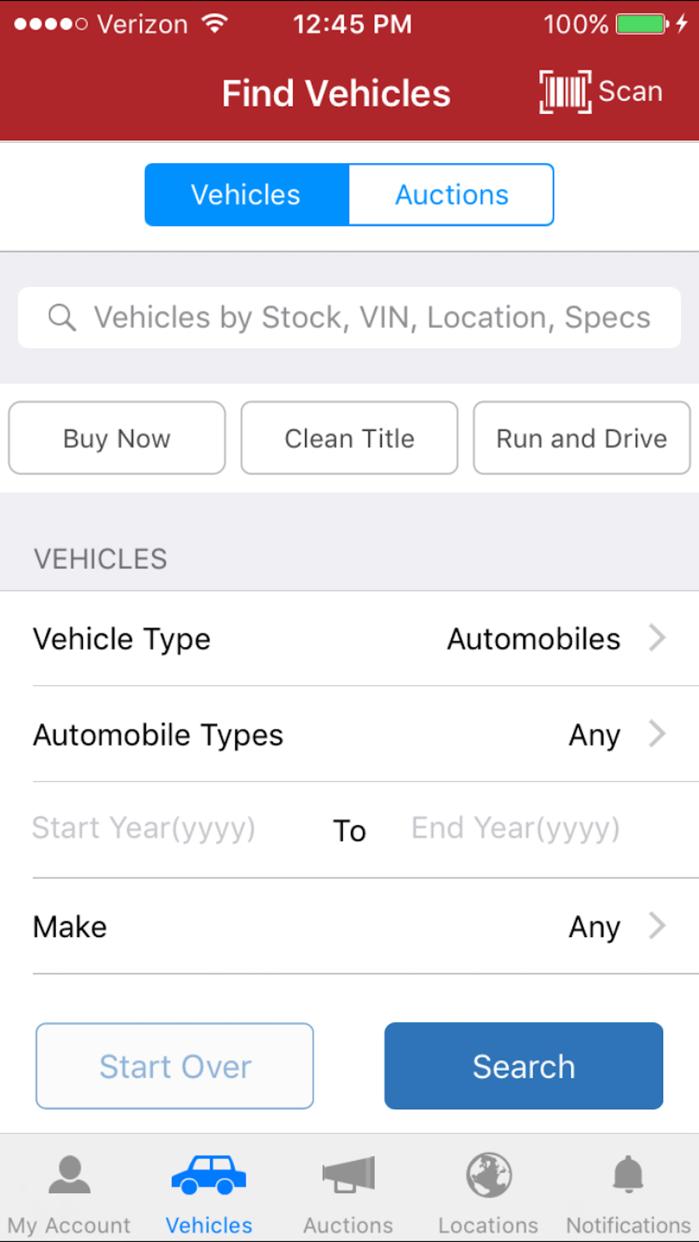 IAA Buyer Salvage Auctions Screenshot