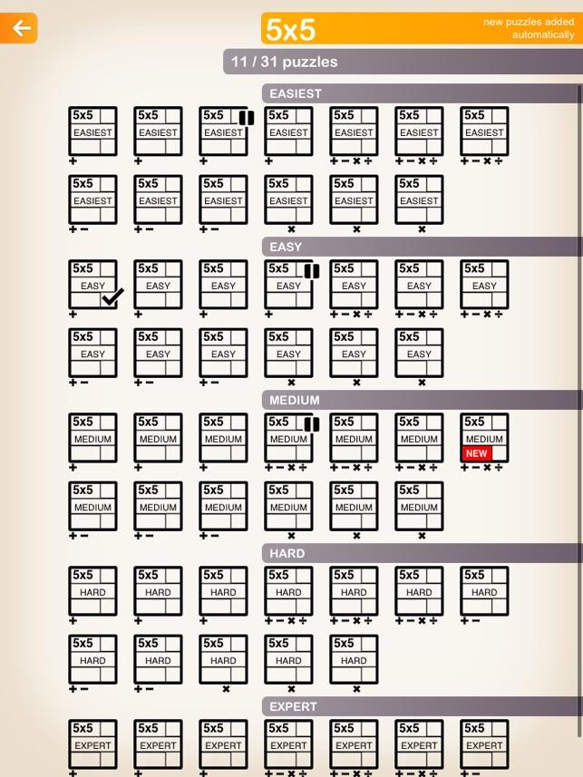 This is a photo of Printable Kenken in pdf