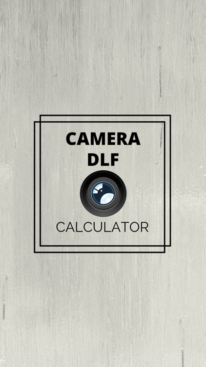 Camera DOF Calculator