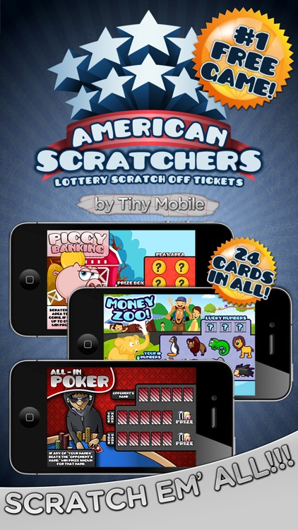 American Scratchers Lottery Scratch Off Tickets
