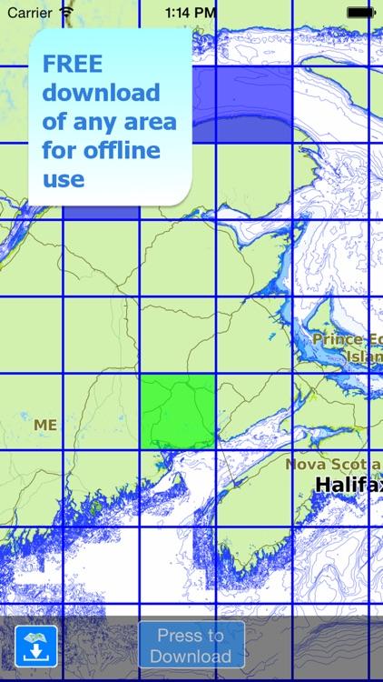 Aqua Map: Canada - GPS Nautical Charts   HD screenshot-4