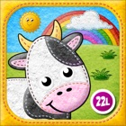 Toddler's Farm Animals sounds, Baby Animal Puzzles icon