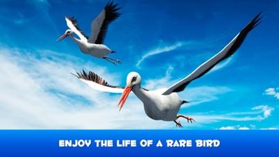 Flying Stork Simulator: Bird Life 3D screenshot one