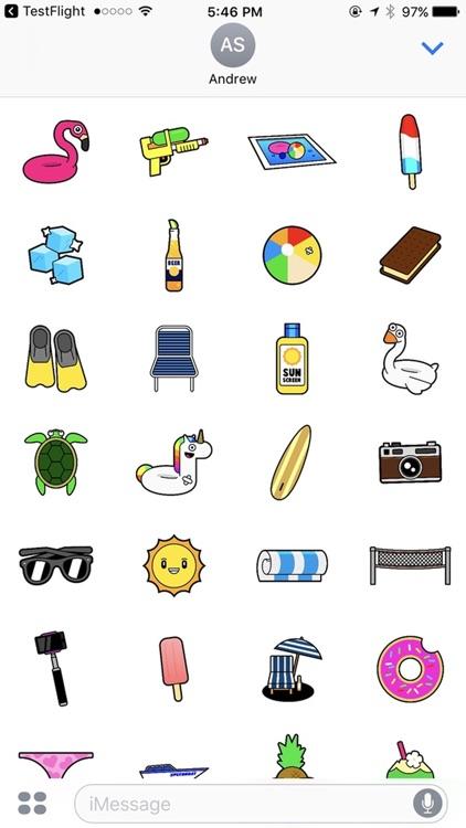 SummerMoji: Summer Stickers and Emojis