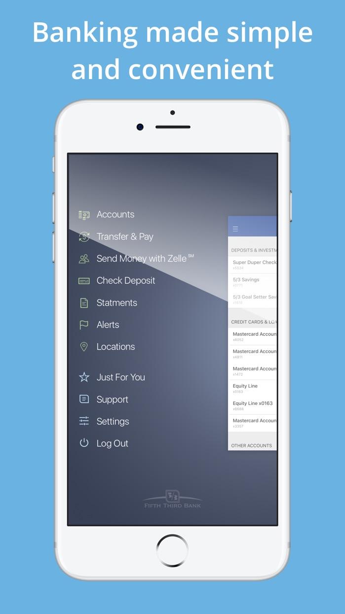Fifth Third Mobile Banking Screenshot