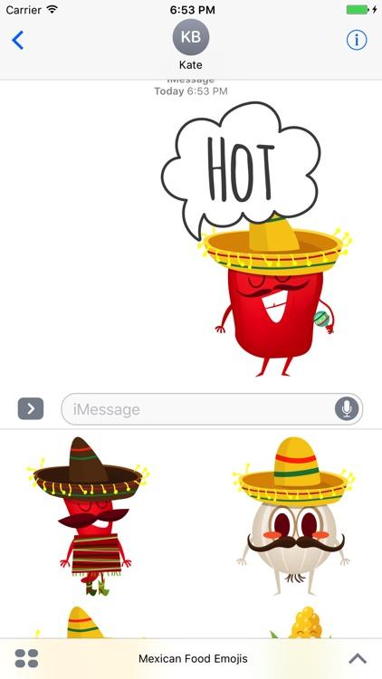 Mexican Food Emojis screenshot-3
