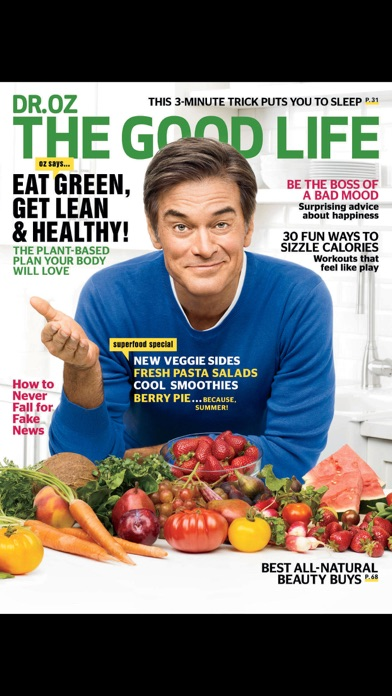 Dr. Oz The Good Life Magazine US Screenshot