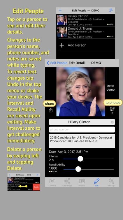 FaceCards - Memorize People's Names screenshot-4