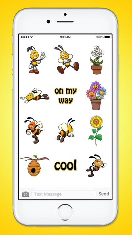 A Bees Life Bee and Flower Sticker Pack screenshot-3