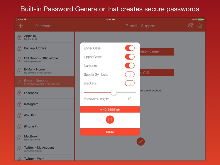 iPassworder for iPad App