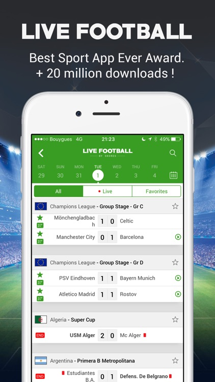 Live Football Scores - Soccer Live Score screenshot-0