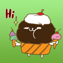 Cute Chocolate Cupcake Sticker