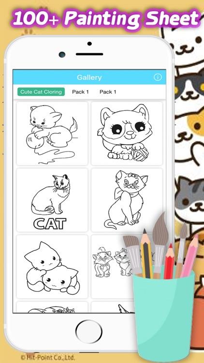 Cute Cat Coloring Book Kitten For Kid