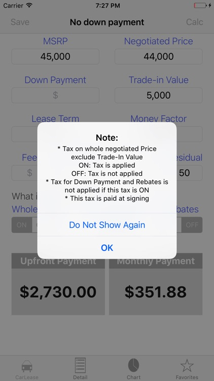Auto Lease Calculator/ Car Loan Payment & Leasing screenshot-4