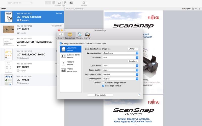 ScanSnap Cloud Screenshot