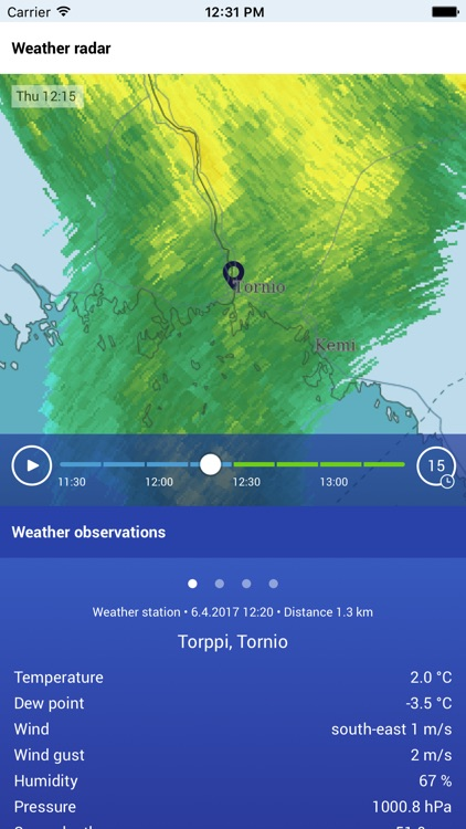 The Finnish Meteorological Institute's Weather