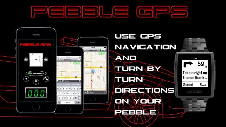 Pebble GPS-Navigation and Speedometer