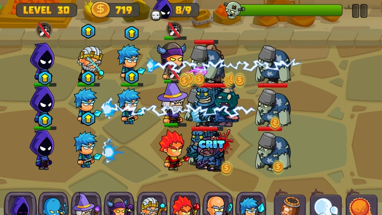 Zombies Defense vs Wizard Swamp Road Shooting Game screenshot-3