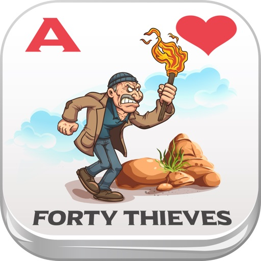 Forty Thieves Solitaire Hearts & Spades Patience