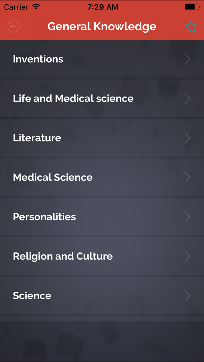 5000+ World General Knowledge - Medical,Inventions Screenshot