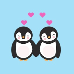 Cute Couple Animals Sticker