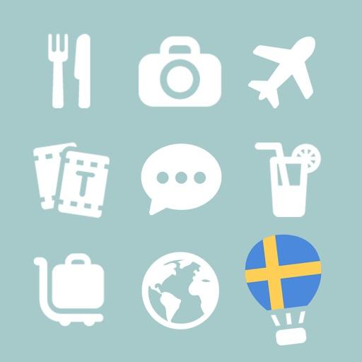 LETS Travel Sweden! Talk Swedish Phrase Guide Book