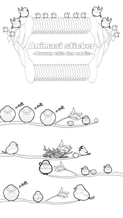 Animasi stiker  yang burung  chic