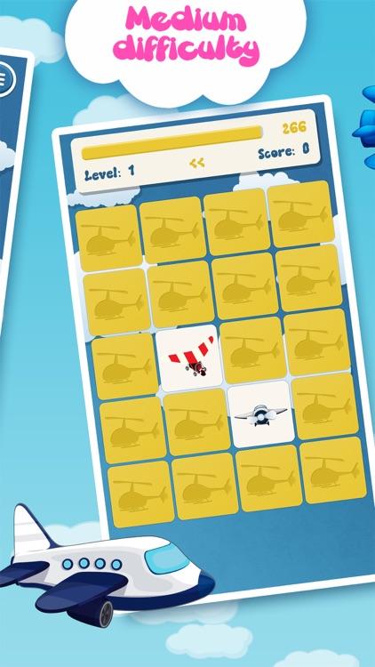 Family matching game: Planes screenshot-3