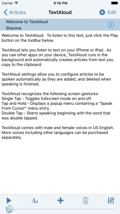 TextAloud screenshot-1