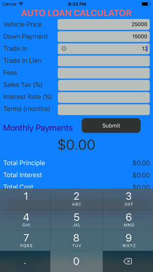 Car Loan Calculator Auto Loan Lease Calculator