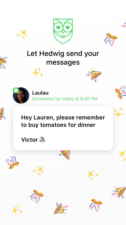 Schedule texts with Hedwig