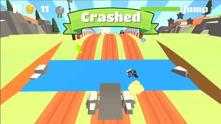 Blocky Monster - Highway Truck Games screenshot-3