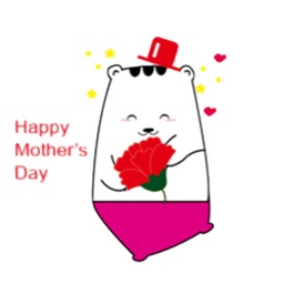 Carnation for Mommy on Mothers Day Stickers