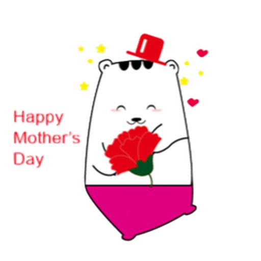 Carnation for Mommy on Mothers Day Stickers icon