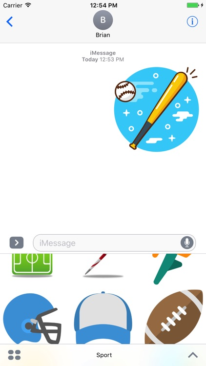 Creative Sport Stickers Messages