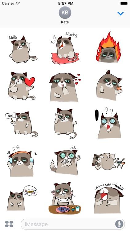 Grumpmoji - grumpy cat emoji stickers