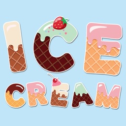 Ice Cream Letters and Numbers Sticker Pack