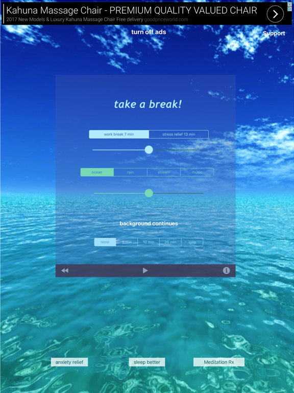 Take a Break! - Guided Meditations for Stress Relief screenshot