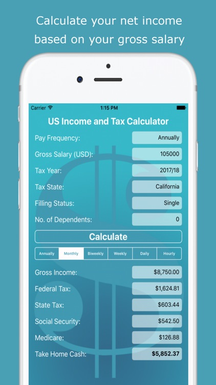 US Income and Tax Calculator