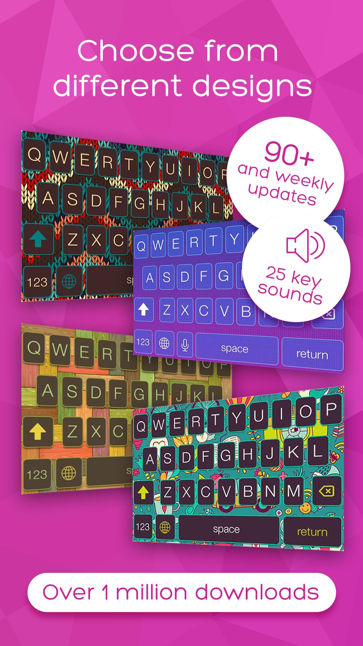 Keyboard Skins for iPhone -  themes, fonts, GIFs Screenshot