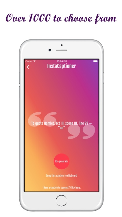 InstaCaptioner | 1000+ Captions
